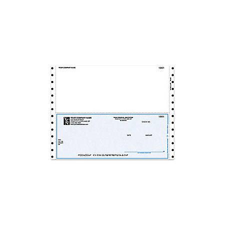 "Continuous Multipurpose Voucher Checks For DACEASY®, 9 1/2"" x 7"", 3 Parts, Box Of 250"