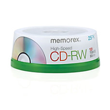 Memorex CD RW Media Spindle 700MB80