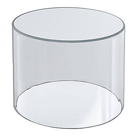 "Azar Displays 4"" Deluxe Acrylic Display Cylinder, 4""H x 4""W x 4""D, Clear"