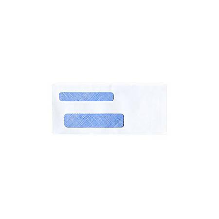 "Custom Tinted Self-Seal Double Window Envelopes, 3 3/4"" x 8 5/8"", Box Of 250"