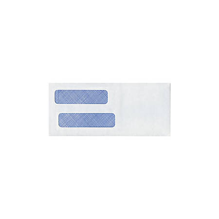 "Tinted Double Window Envelopes, Design 2, Regular Gummed, 3 7/8"" x 8 7/8"", Box Of 250"