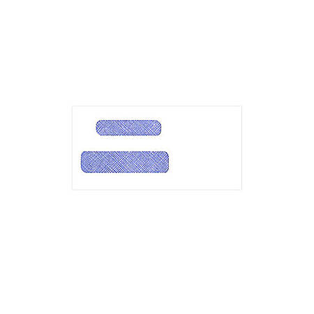 "Custom Tinted Self-Seal Double Window Envelopes, 3 1/2"" x 6 7/32"", Box Of 250"