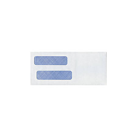 "Custom Tinted Double Window Envelopes, Regular Gummed, 3 5/8"" x 8 5/8"", Box Of 250"