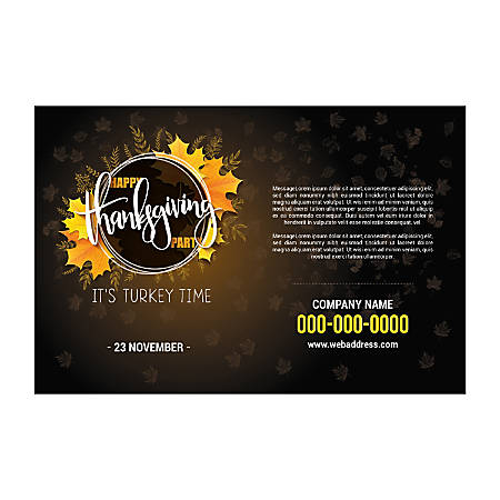 Single-Sided Flyers, Black Border Texture, Horizontal