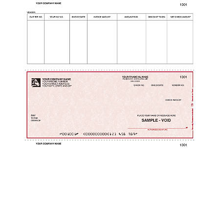 "Custom Laser Accounts Payable Checks For Sage Peachtree®, 8 1/2"" x 11"", 2 Parts, Box Of 250"