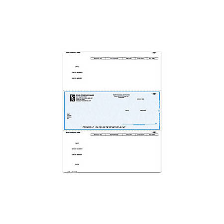 "Custom Laser Accounts Payable Checks For DACEASY®, 8 1/2"" x 11"", 2 Parts, Box Of 250"