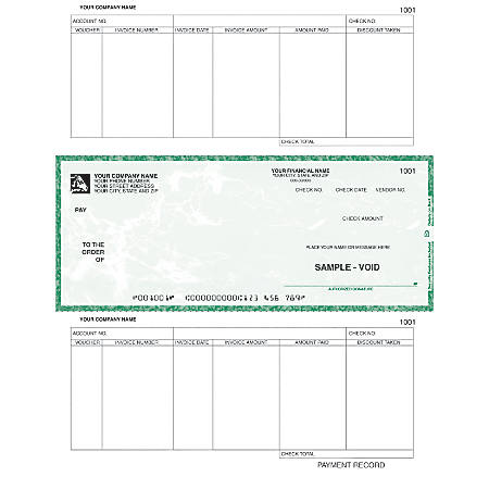 "Laser Accounts Payable Checks For RealWorld®, 8 1/2"" x 11"", 2 Parts, Box Of 250"