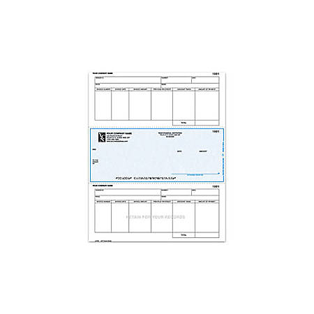 """Laser Accounts Payable Checks For One Write Plus®, 8 1/2"""" x 11"""", 2 Parts, Box Of 250"""