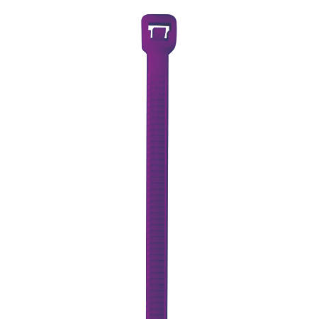"Office Depot® Brand Color Cable Ties, 5.5"", Purple, Case Of 1,000"