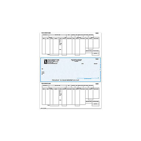 "Custom Laser Payroll Checks For Dynamics®/Great Plains®/Microsoft®, 8 1/2"" x 11"", 2 Parts, Box Of 250"