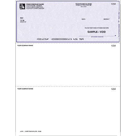 "Laser Multipurpose Voucher Checks, For Parsons®, M.Y.O.B®, 8 1/2"" x 11"", 2 Parts, Box Of 250"
