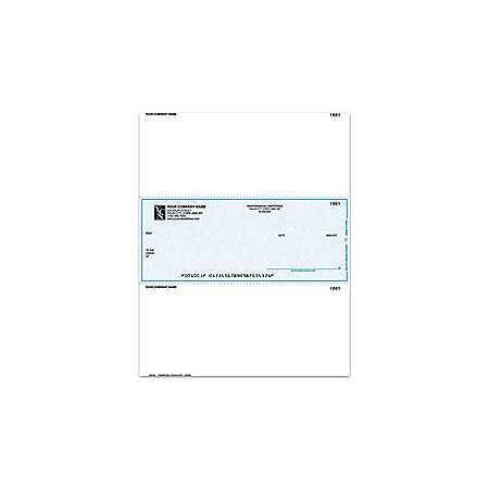 """Custom Laser Multipurpose Voucher Checks, For Sage Peachtree®, Parsons®, Champion Business Systems®, 8 1/2"""" x 11"""", 2 Parts, Box Of 250"""