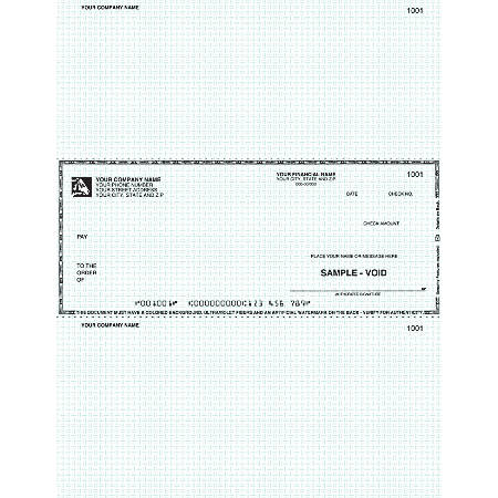 "Laser Multipurpose Voucher Checks, For RealWorld®, 8 1/2"" x 11"", 2 Parts, Box Of 250"
