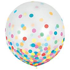 Amscan 24 Confetti Balloons Multicolor 2