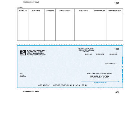 "Laser Accounts Payable Checks For Sage Peachtree®, 8 1/2"" x 11"", 1 Part, Box Of 250"