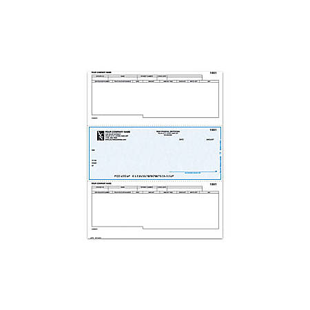 "Custom Laser Accounts Payable Checks For Dynamics®/Great Plains®/Microsoft®, 8 1/2"" x 11"", 1 Part, Box Of 250"