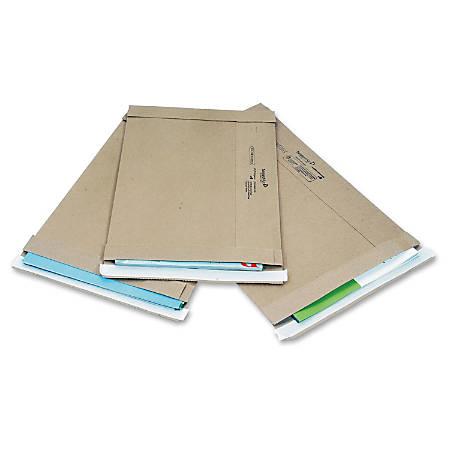 "Jiffy Mailer Jiffy Utility Mailers - Shipping - #4 - 9 1/2"" Width x 13 3/4"" Length - Self-sealing - Kraft - 100 / Carton - Natural Kraft"