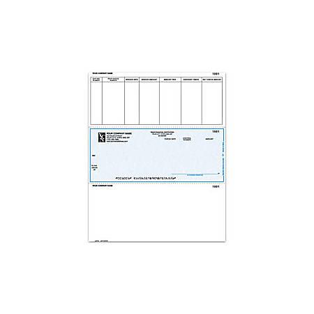 "Custom Laser Accounts Payable Checks For Dynamics®/Solomon®, 8 1/2"" x 11"", 1 Part, Box Of 250"