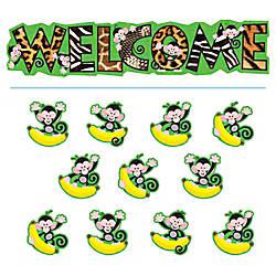 TREND Monkey Mischief Welcome Bulletin Board