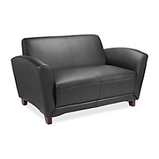Lorell Accession Bonded Leather Reception Loveseat