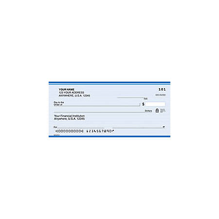 "Personal Wallet Checks, 6"" x 2 3/4"", Singles, Monarch, Box Of 150"