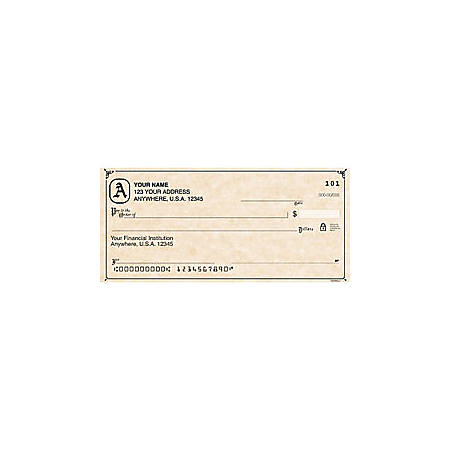 "Personal Wallet Checks, 6"" x 2 3/4"", Duplicates, Scroll, Box Of 150"
