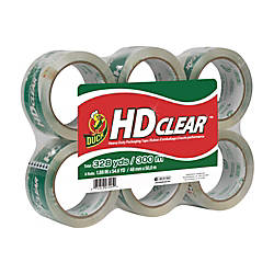 """Duck Brand Standard Best Packaging Tape 1.88/"""" x 100 Yards Clear Pack of 4 rolls"""