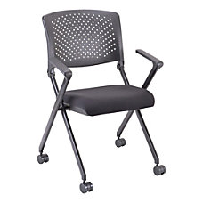 Lorell Nesting Plastic Back Chairs With