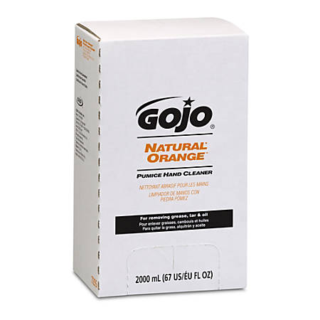 GOJO® Natural Orange Hand Soap With Pumice, 67 Oz., Pack Of 4