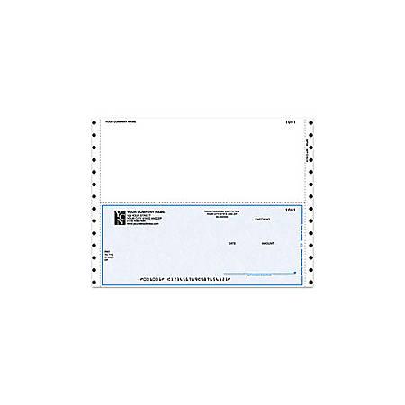 "Continuous Multipurpose Voucher Checks For DACEASY®, 9 1/2"" x 7"", 1 Part, Box Of 250"