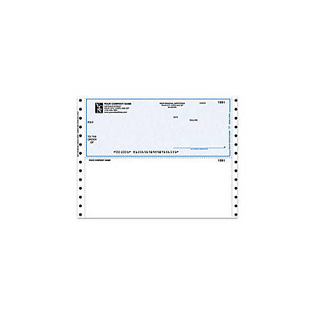 "Continuous Multipurpose Voucher Checks For CYMA®, 9 1/2"" x 7"", 2 Parts, Box Of 250"