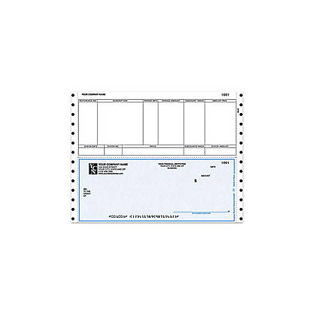 "Custom Continuous Accounts Payable Checks For Sage Peachtree®, 9 1/2"" x 7"", 3 Parts, Box Of 250"