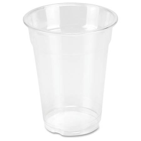 Genuine Joe Clear Plastic Cups - 50 - 9 fl oz - 1000 / Carton - Clear - Plastic - Cold Drink, Beverage