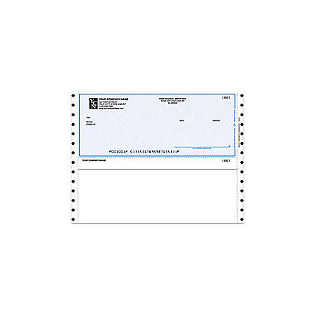 """Custom Continuous Multipurpose Voucher Checks For M.Y.O.B®, 9 1/2"""" x 7"""", 3 Parts, Box Of 250"""