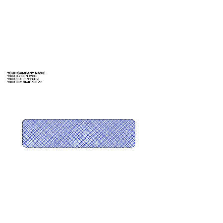 "Custom Tinted Single Window Imprinted Envelopes, 3 7/8"" x 8 7/8"", Box Of 250"