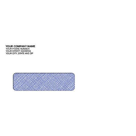 "Custom Single Window Imprinted Envelopes, 3 15/16"" x 8 13/16"", Box Of 250"