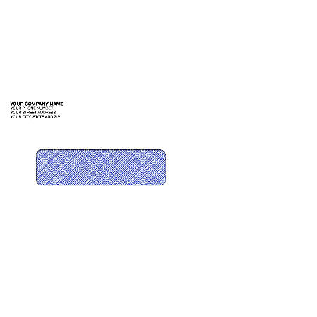 "Tinted Single Window Imprinted Envelopes, 3 7/8"" x 8 7/8"", Box Of 250"