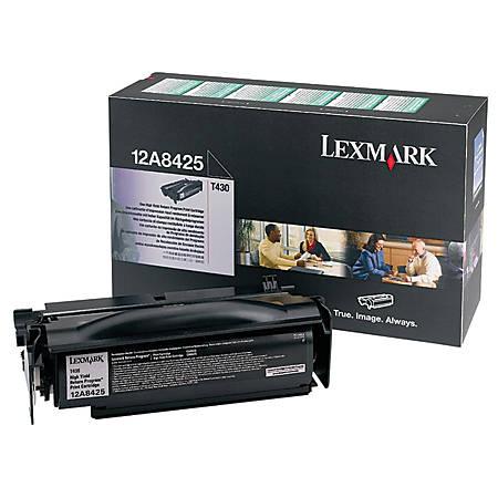 Lexmark™ 12A8425 Return Program High-Yield Black Toner Cartridge