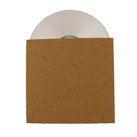 ReBinder™ ReSleeve 100% Recycled Cardboard CD Sleeves (No View), Brown, Pack Of 25