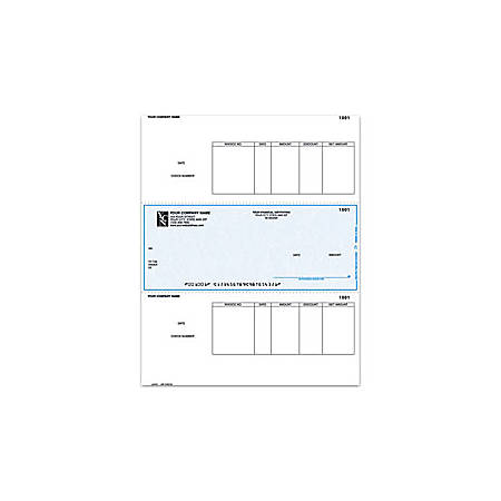 "Custom Laser Accounts Payable Checks For Sage Peachtree®, 8 1/2"" x 11"", 1 Part, Box Of 250"