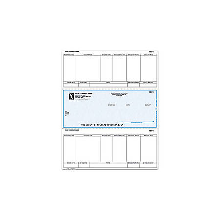 "Custom Laser Accounts Payable Checks For Sage Peachtree®, 8 1/2"" x 11"", 1 Part, Box Of 250"