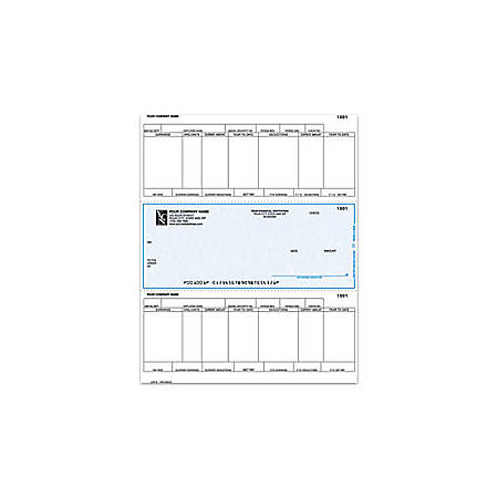 "Laser Payroll Checks For Sage Peachtree®, 8 1/2"" x 11"", 1 Part, Box Of 250"