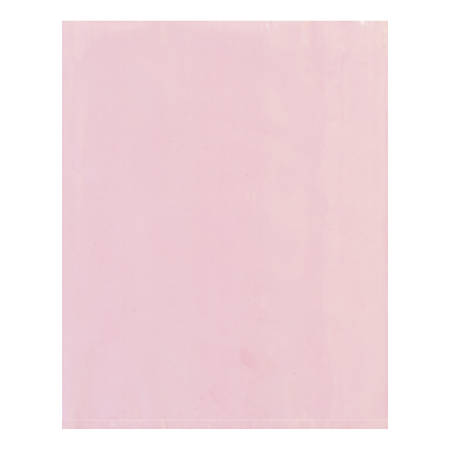 """Office Depot® Brand Antistatic Flat 4-mil Poly Bags, 8"""" x 16"""", Pink, Pack Of 1,000"""