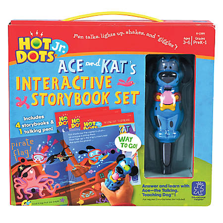 Educational Insights® Hot Dots Jr. Interactive Storybooks With Pen, Set Of 4