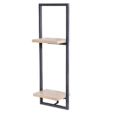 Honey Can Do 2-Tier Vertical Floating Wall Shelf, Black
