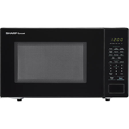 Sharp® Carousel 1.1 Cu Ft Countertop Microwave Oven, Black