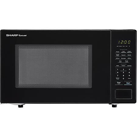 Sharp® Carousel 1.1 Cu Ft Countertop Microwave Oven, Black