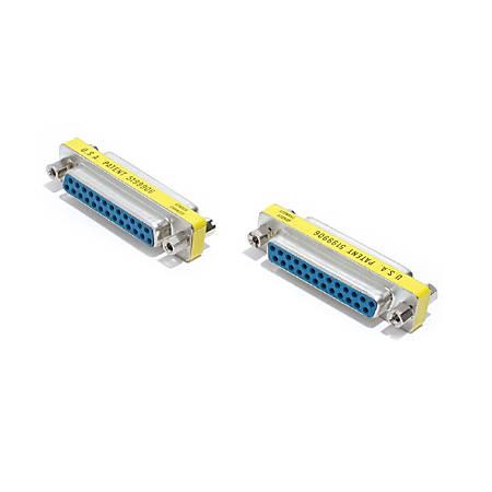 StarTech.com DB25 Slimline Gender Changer Female to Female - Cable Adapter