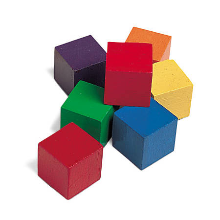 "Learning Resources 1"" Wooden Color Cubes, Grades Pre-K-2, Pack Of 102"