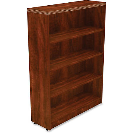 Lorell® Chateau Series Bookcase, 4-Shelf, Cherry